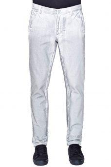 Мъжки панталон в бяло със сиви ефекти Cheap Monday