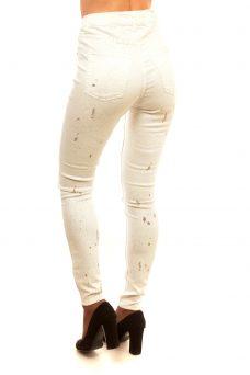 Бели прилепнали дънки с ефекти Cheap Monday