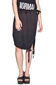 Черна пола с асиметричен дизайн Cheap Monday