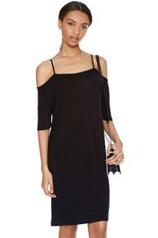Черна рокля с презрамки Cheap Monday