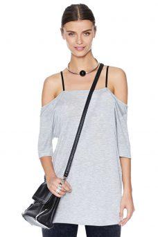 Сива блуза с презрамки Cheap Monday