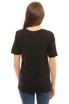Черна тениска с щампа Cheap Monday