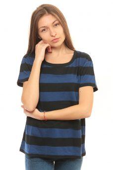 Синя раирана тениска Cheap Monday