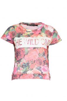 Тениска с флорален десен Blend She