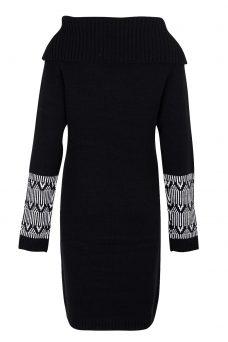 Черна рокля плетиво Blend She