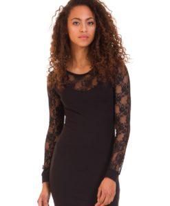 Черна рокля с дантела Blend She