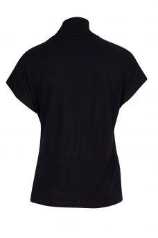 Черна тениска с поло яка Blend She