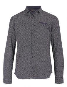 Черна риза на фигури Casual Friday