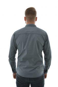 Сива риза със ситен десен Blend