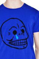 Синя тениска щампа череп със сълза Cheap Monday 3