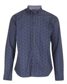 Синя риза на фигури Casual Friday