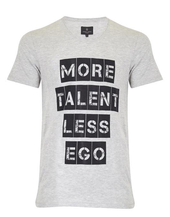 Сива тениска с щампа Casual Friday
