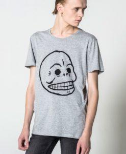 Мъжка тениска с щампа череп Cheap Monday