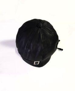 Дамска шапка естествена кожа