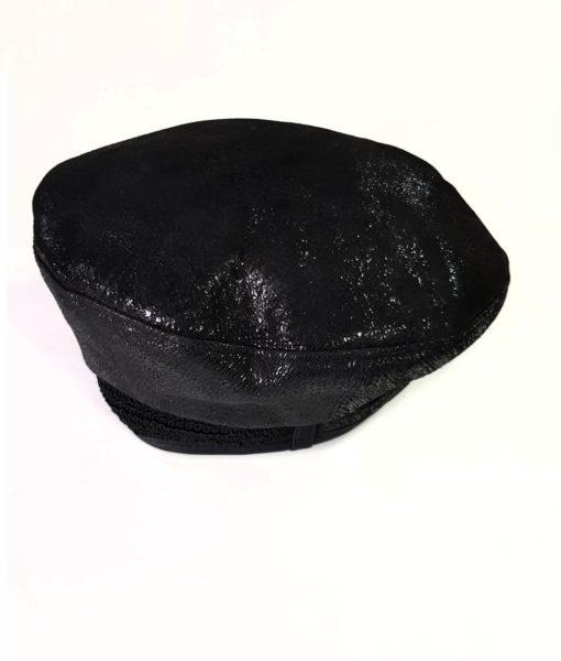 Дамска шапка от естествена кожа